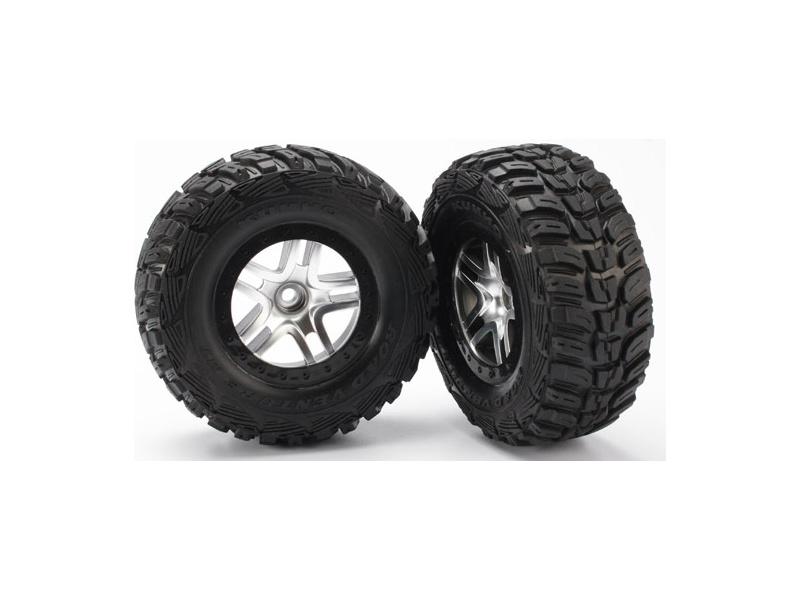 """Traxxas kolo 2.2/3.0"""", disk SCT Split-Spoke saténový-černý, pneu Kumho (2) (2WD přední), Traxxas 5882, TRA5882"""