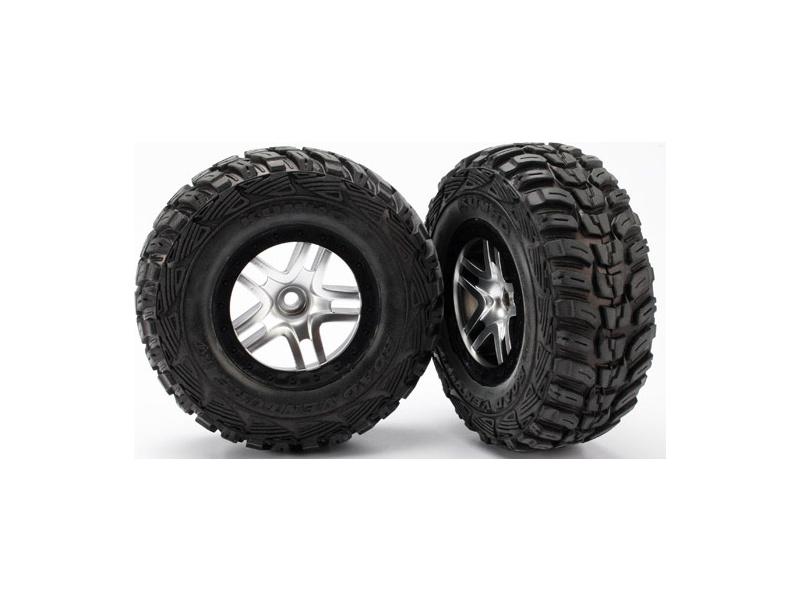 "Traxxas kolo 2.2/3.0"", disk SCT Split-Spoke saténový-černý, pneu Kumho S1 (2) (2WD přední), Traxxas 5882R, TRA5882R"