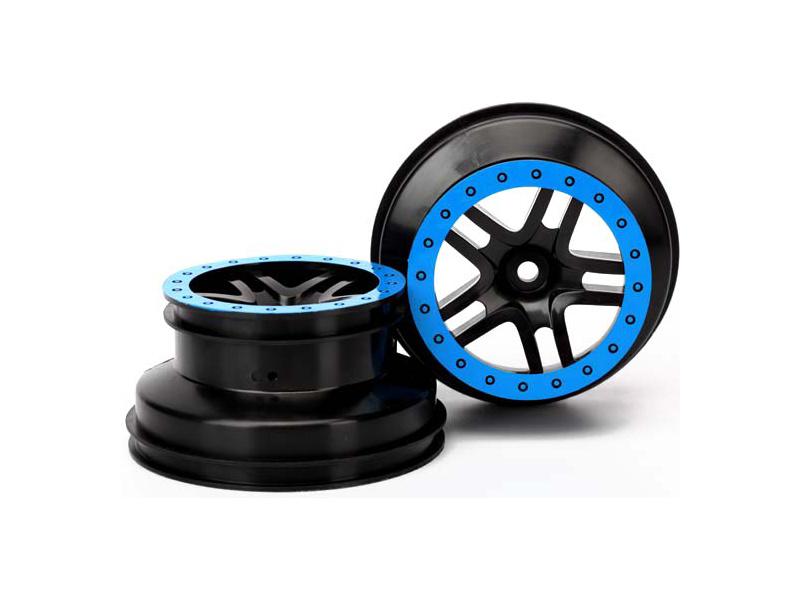 """Traxxas disk 2.2/3.0"""" SCT Split-Spoke černý-modrý (2), Traxxas 5884A, TRA5884A"""