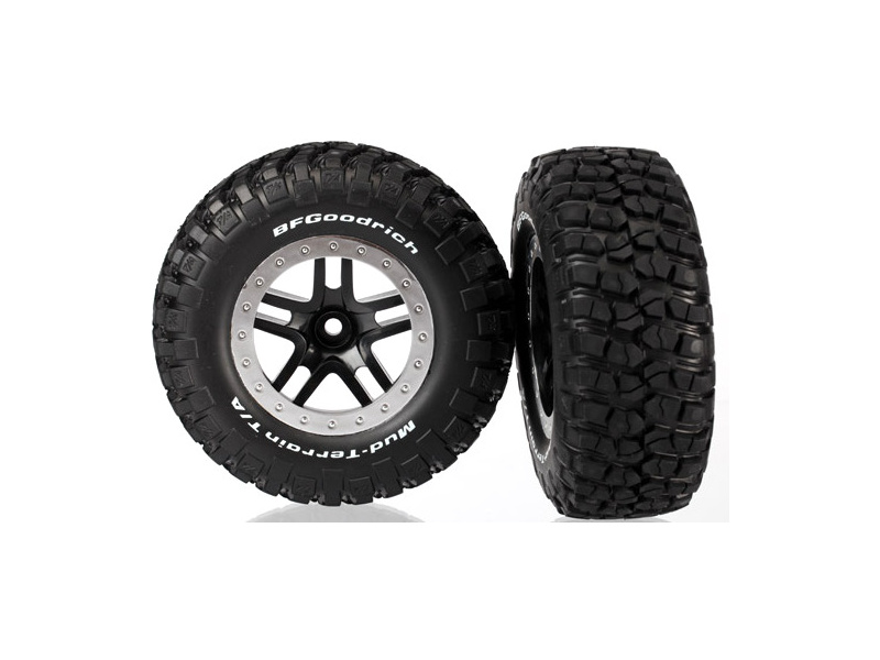"""Traxxas kolo 2.2/3.0"""", disk SCT Split-Spoke černý-saténový, pneu KM2 (2) (2WD přední), Traxxas 5885, TRA5885"""