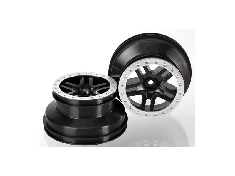 """Traxxas disk 2.2/3.0"""" SCT Split-Spoke černý-saténový (2) (2WD přední), Traxxas 5886, TRA5886"""