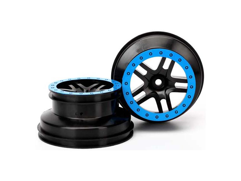"""Traxxas disk 2.2/3.0"""" SCT Split-Spoke černý-modrý (2) (2WD přední), Traxxas 5886A, TRA5886A"""