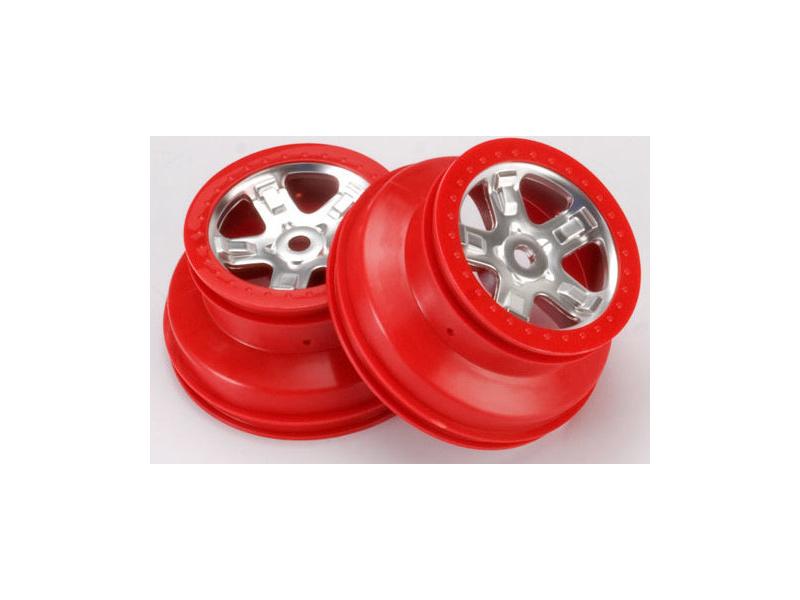 """Traxxas disk 2.2/3.0"""" SCT saténový-červený (2), Traxxas 5972A, TRA5972A"""