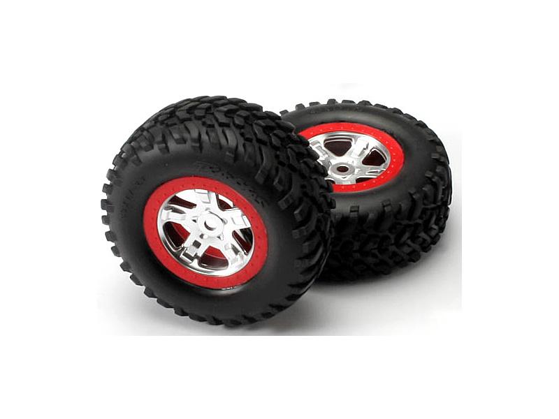 """Traxxas kolo 2.2/3.0"""", disk SCT saténový-červený, pneu SCT (2), Traxxas 5973A, TRA5973A"""
