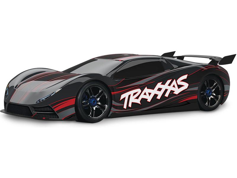 Traxxas XO-1 1:7 TQi BlueTooth RTR černé, TRA64077-3-BLK