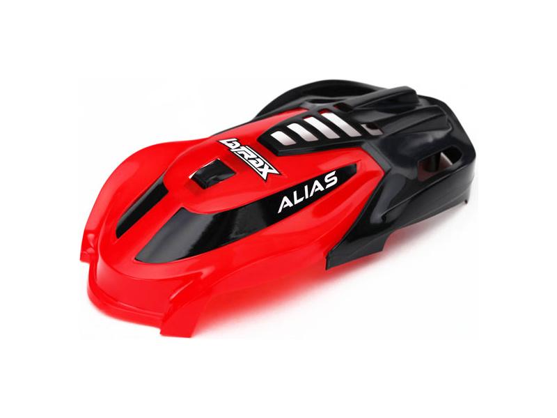 Traxxas kabina červená, vrut 1.6x5 (3): LaTrax Alias, Traxxas 6611, TRA6611