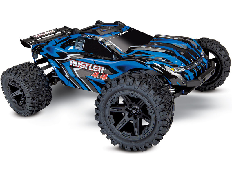 Traxxas Rustler 1:10 4WD RTR modrý, TRA67064-1-BLU, Traxxas 67064-1-BLU