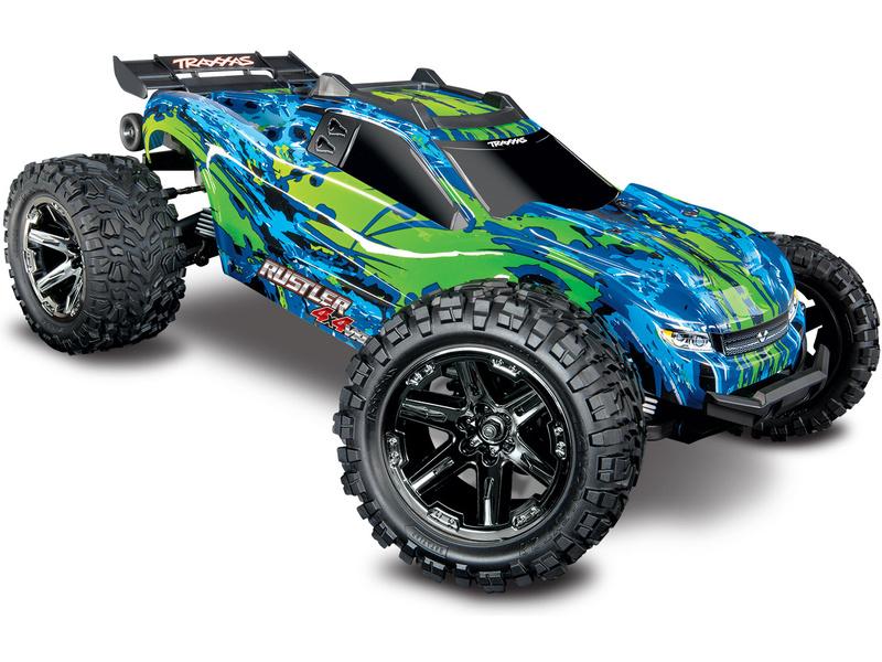 Traxxas Rustler 1:10 VXL 4WD TQi RTR zelený, TRA67076-4-GRN