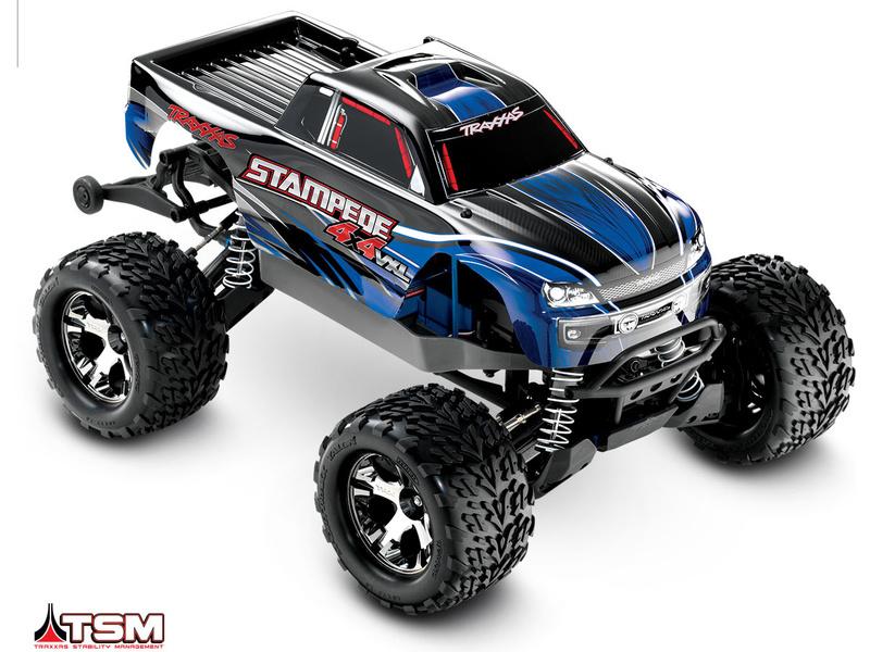 Traxxas Stampede 1:10 VXL 4WD TQi RTR modrý