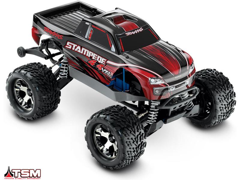 Traxxas Stampede 1:10 VXL 4WD TQi RTR červený, TRA67086-4-RED, Traxxas 67086-4-RED