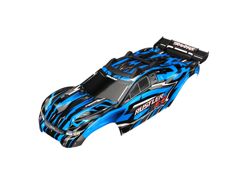 Traxxas karosérie modrá: Rustler 4x4 VXL, Traxxas 6718X, TRA6718X