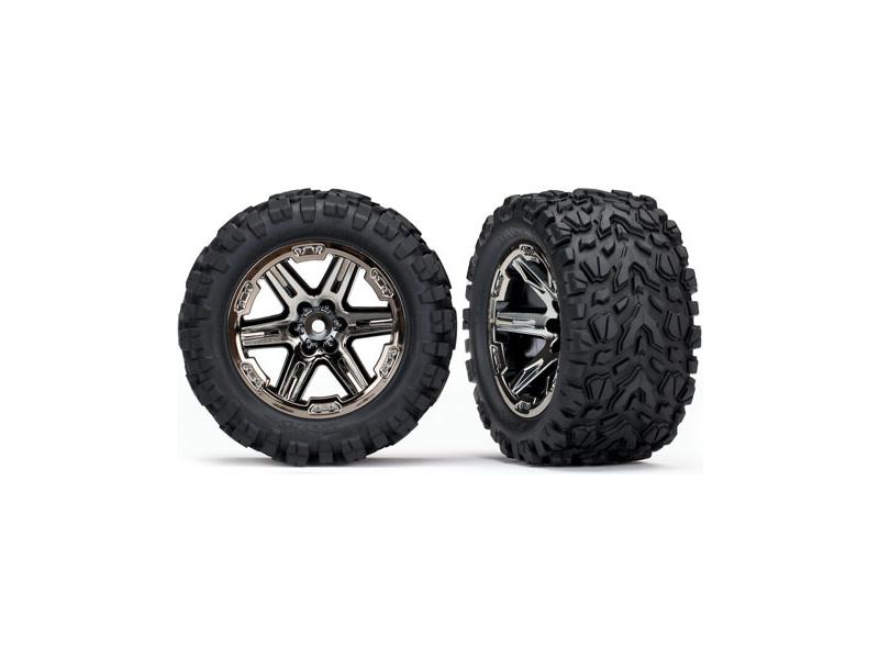 """Traxxas kolo 2.8"""", disk RXT černý chrom, pneu Talon Extreme (pár) (zadní), Traxxas 6774X, TRA6774X"""