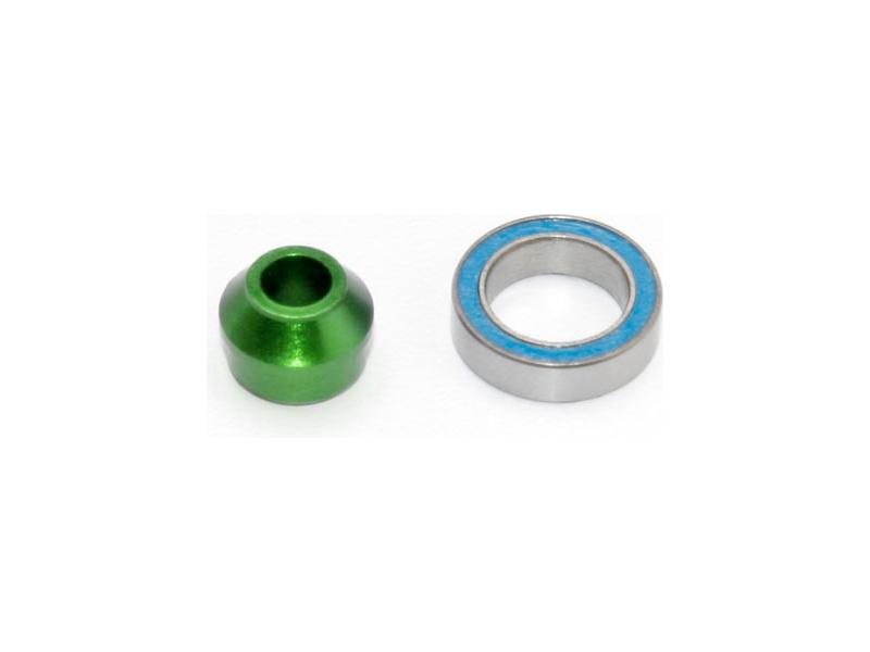 Traxxas hliníkové pouzdro ložiska zelené, ložisko 10x15x4mm, Traxxas 6893G, TRA6893G