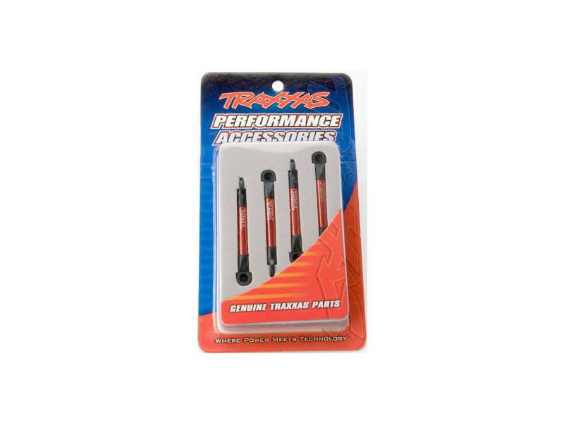 Traxxas ojnička stavitelná 75mm hliníková červená (4), TRA7018X