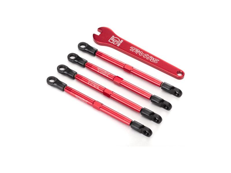 Traxxas ojnička stavitelná hliníková červená (4), TRA7138X