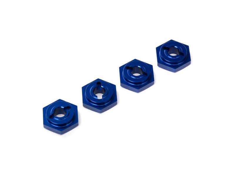 Traxxas náboj kola hliníkový modrý (4), TRA7154X