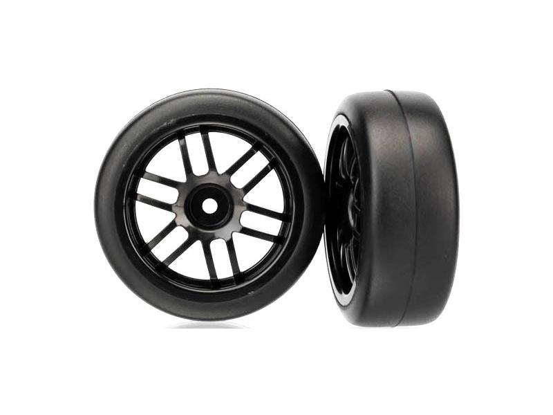 """Traxxas kolo 1.9"""", disk Rally černý, pneu Gymkhana (2), Traxxas 7376, TRA7376"""