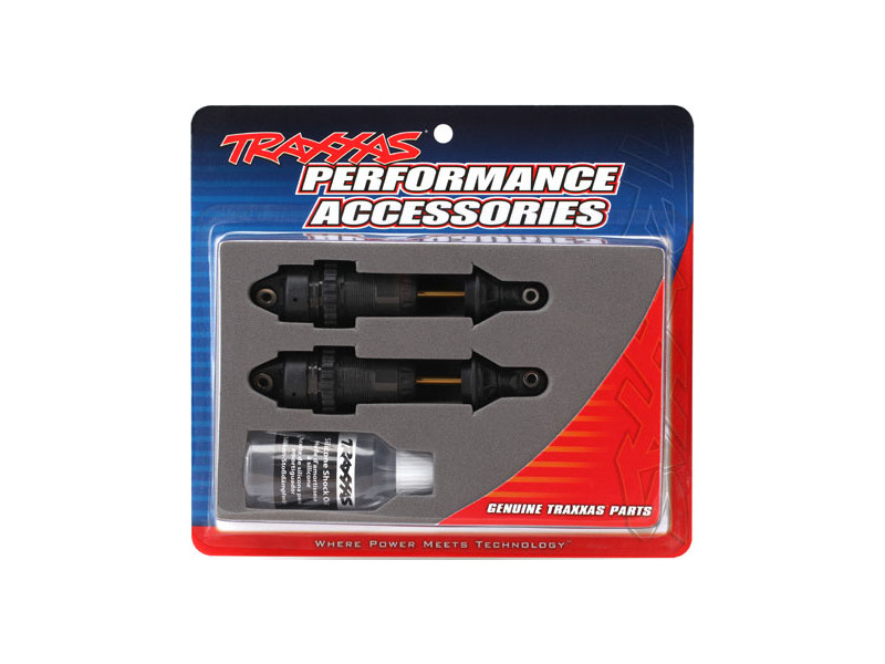 Traxxas tlumič GTR long hliník/PTFE, pístnice TiN (2), TRA7461X