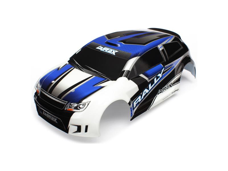 Traxxas karosérie modrá, samolepky: LaTrax Rally, Traxxas 7514, TRA7514