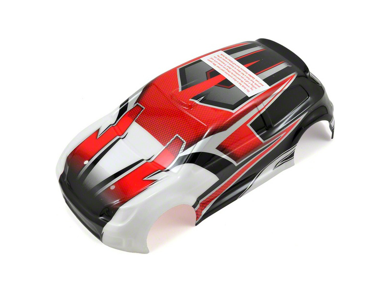 Traxxas karosérie červená, samolepky: LaTrax Rally, Traxxas 7515, TRA7515
