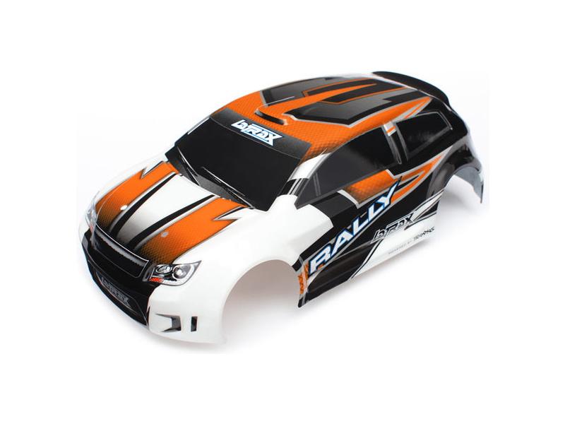 Traxxas karosérie oranžová, samolepky: LaTrax Rally, Traxxas 7517, TRA7517