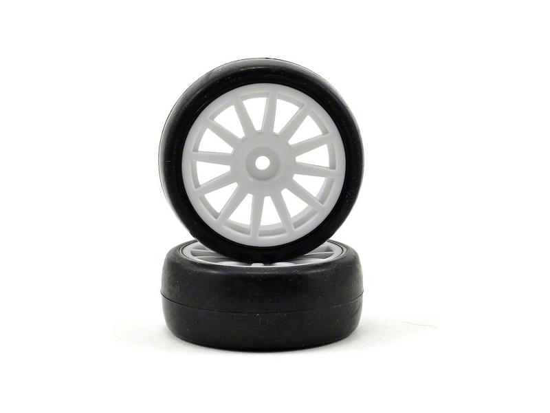 Traxxas kolo, disk 12-spoke bílý, pneu slick (2), Traxxas 7572, TRA7572