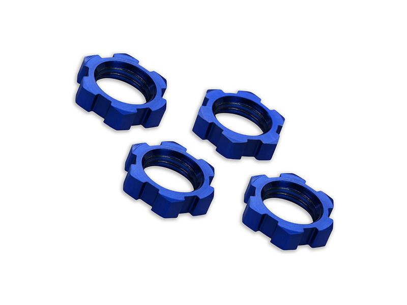Traxxas matice kol 17mm hliníkové modré (4), Traxxas 7758, TRA7758