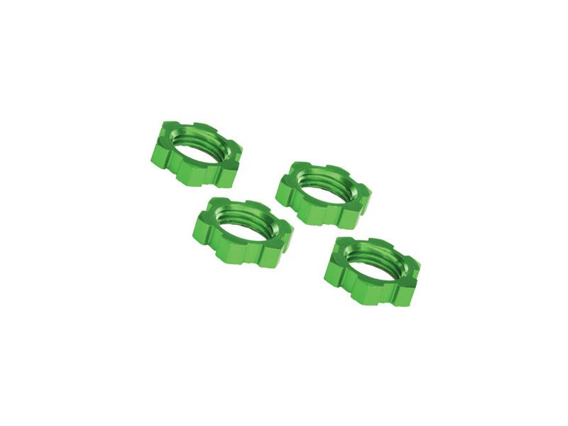 Náhled produktu - Traxxas matice kol 17mm hliníkové zelené (4)