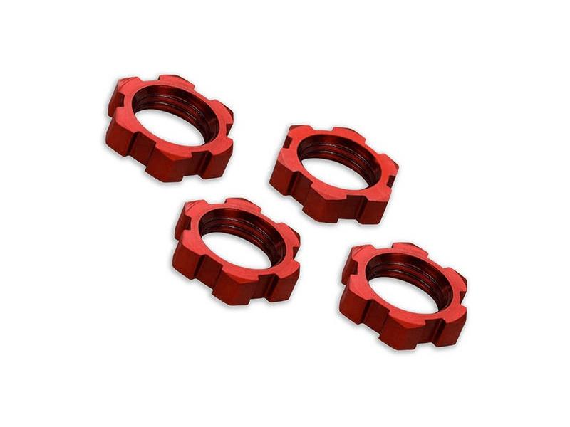 Traxxas matice kol 17mm hliníkové červené (4), Traxxas 7758R, TRA7758R
