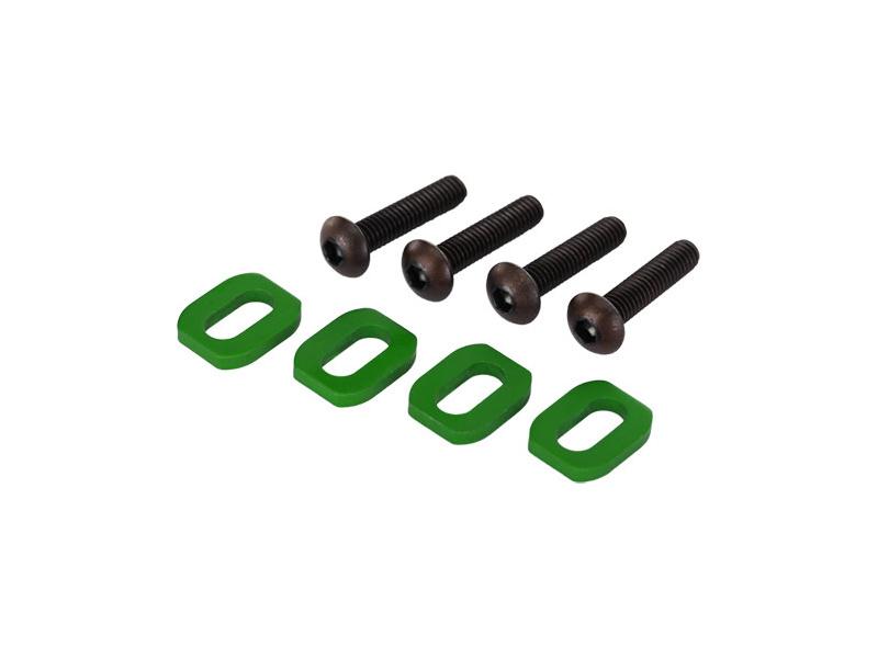 View Product - Traxxas podložky pod šrouby motoru hliníkové zelené (4): X-Maxx