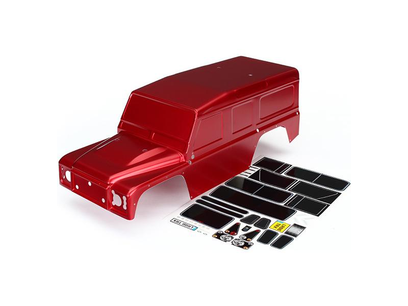 Traxxas karosérie Land Rover Defender červená: TRX-4, Traxxas 8011R, TRA8011R