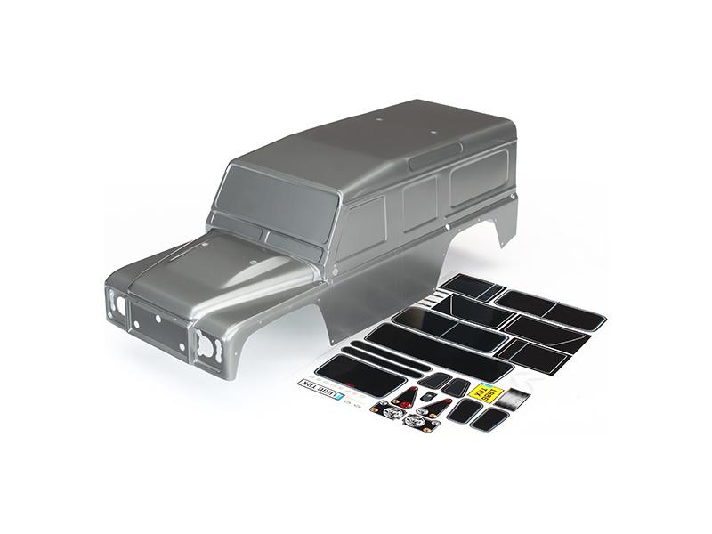 Traxxas karosérie Land Rover Defender stříbrná: TRX-4, Traxxas 8011X, TRA8011X