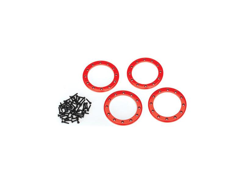 """Traxxas hliníkový beadlock kroužek 2.2"""" červený (4), Traxxas 8168R, TRA8168R"""