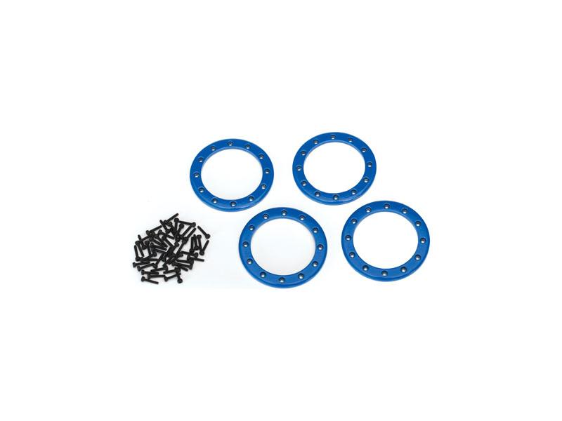 """Traxxas hliníkový beadlock kroužek 2.2"""" modrý (4), Traxxas 8168X, TRA8168X"""