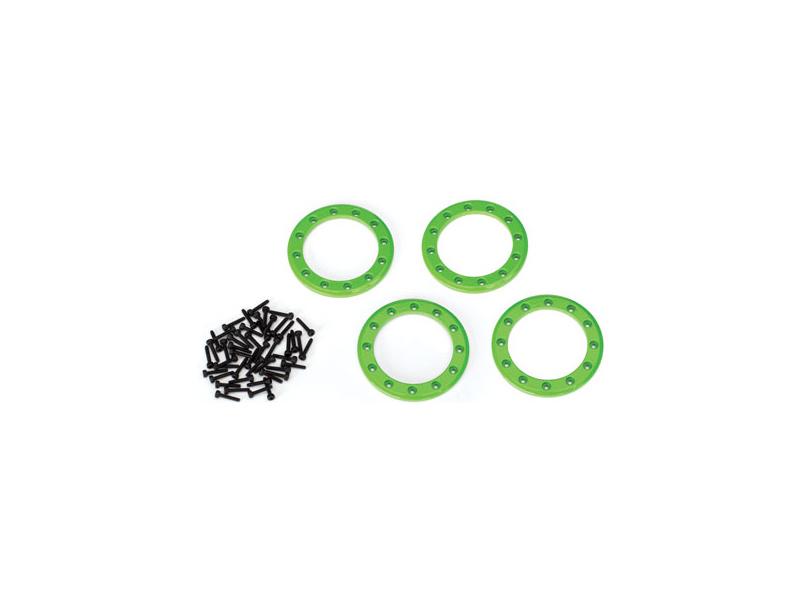 """Traxxas hliníkový Beadlock kroužek 1.9"""" zelený (4), Traxxas 8169G, TRA8169G"""