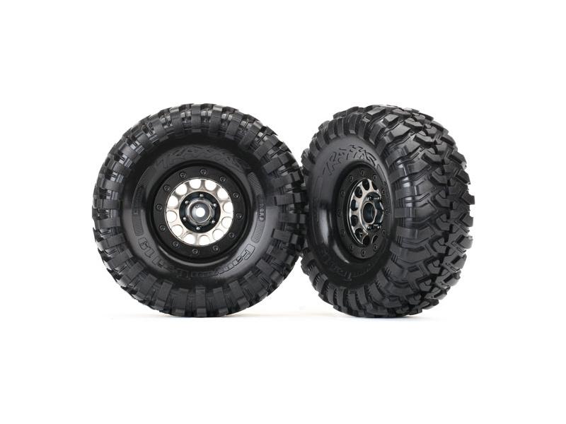 """Traxxas kolo 1.9"""", disk Method 105 černý chrom, pneu Canyon Trail (pár), Traxxas 8174, TRA8174"""