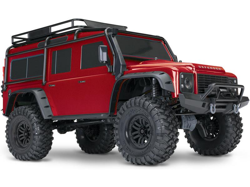 Traxxas TRX-4 Land Rover Defender 1:10 TQi RTR červený, TRA82056-4-RED