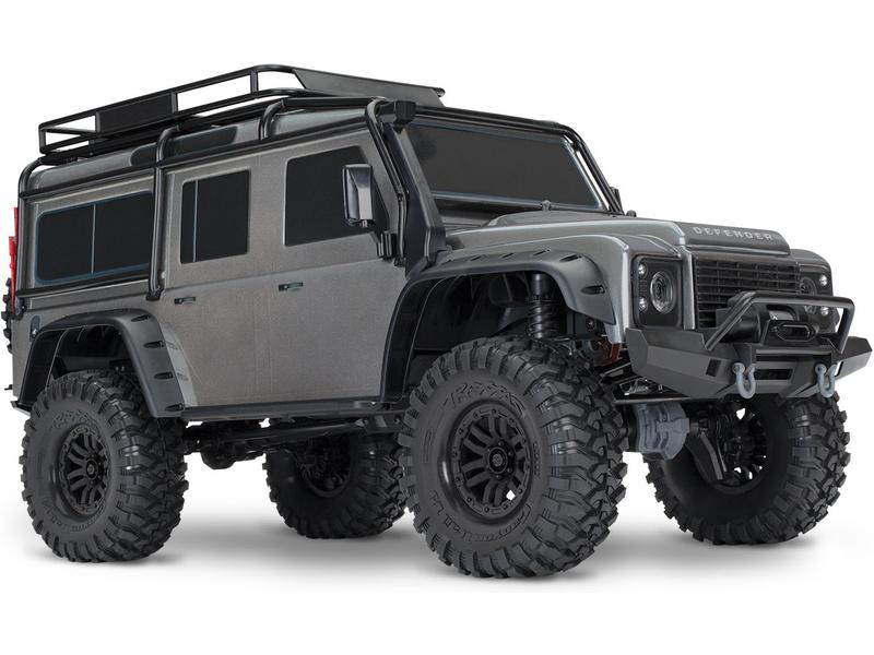 Traxxas TRX-4 Land Rover Defender 1:10 TQi RTR šedý, TRA82056-4-SLV