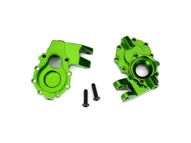Traxxas vnitřní díl přední nápravy hliníkový zelený (2): TRX-4, Traxxas 8252G, TRA8252G