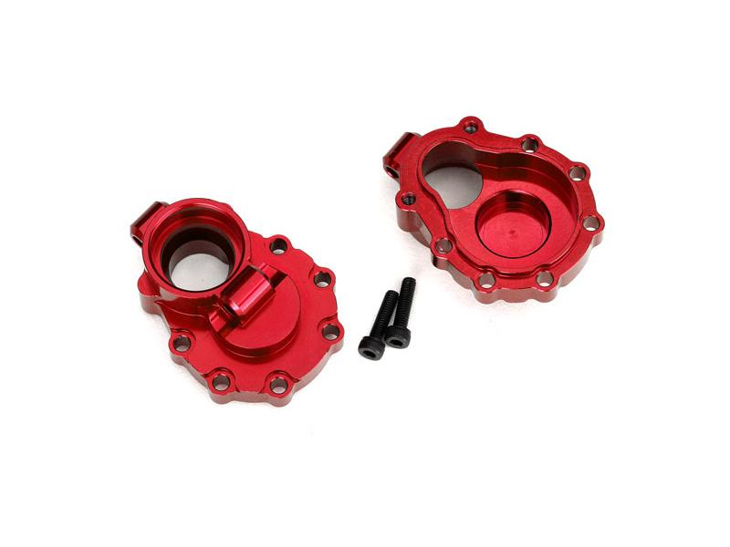 Traxxas vnitřní díl zadní nápravy hliníkový červený (2): TRX-4, Traxxas 8253R, TRA8253R