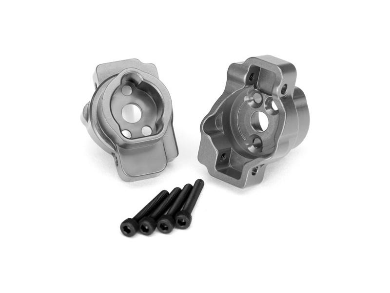 Traxxas lože zadní portálové nápravy hliníkové šedé (pár): TRX-4, Traxxas 8256A, TRA8256A