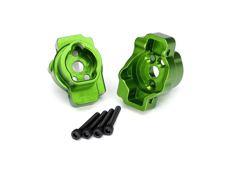 Traxxas lože zadní portálové nápravy hliníkové zelené (pár): TRX-4, Traxxas 8256G, TRA8256G
