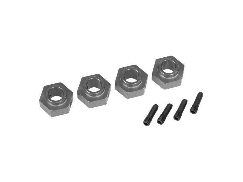 Traxxas náboj kola 12mm hliníkový šedý (4): TRX-4, Traxxas 8269A, TRA8269A
