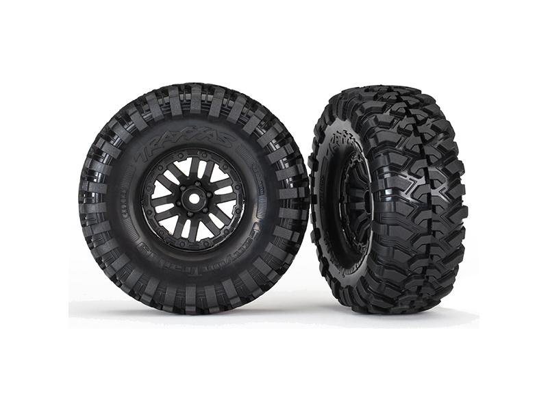 """Traxxas kolo 1.9"""", disk TRX-4 černý, pneu Canyon Trail (pár), Traxxas 8272, TRA8272"""