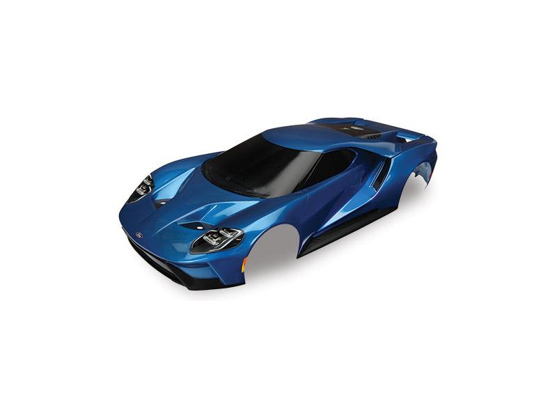 Náhled produktu - Traxxas karosérie Ford GT modrá: 4-Tec 2.0
