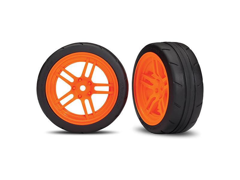 Náhled produktu - Traxxas kolo 1.9″, disk split-spoke oranžový, pneu Response (2) (přední)