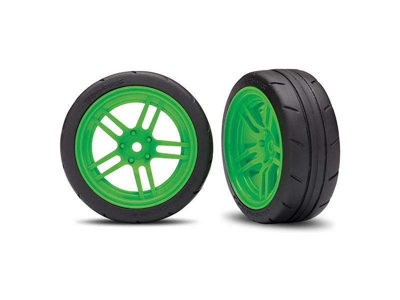 Náhled produktu - Traxxas kolo 1.9″, disk split-spoke zelený, pneu Response (2) (přední)