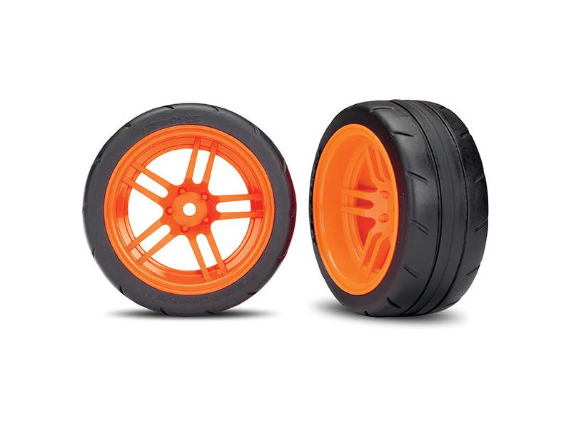 View Product - Traxxas kolo 1.9″, disk split-spoke oranžový, pneu Response (2) (zadní)