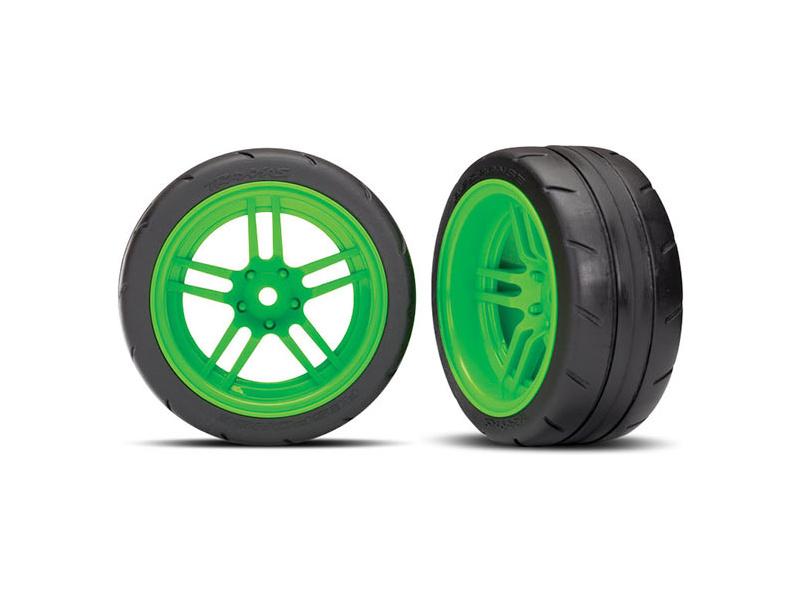 Náhled produktu - Traxxas kolo 1.9″, disk split-spoke zelený, pneu Response (2) (zadní)