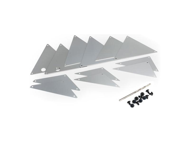 Traxxas hliníkové vnitřní panely šasi stříbrné, Traxxas 8434A, TRA8434A